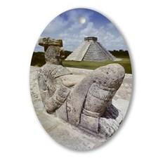 chak_mul_mayan_statue_oval_ornament
