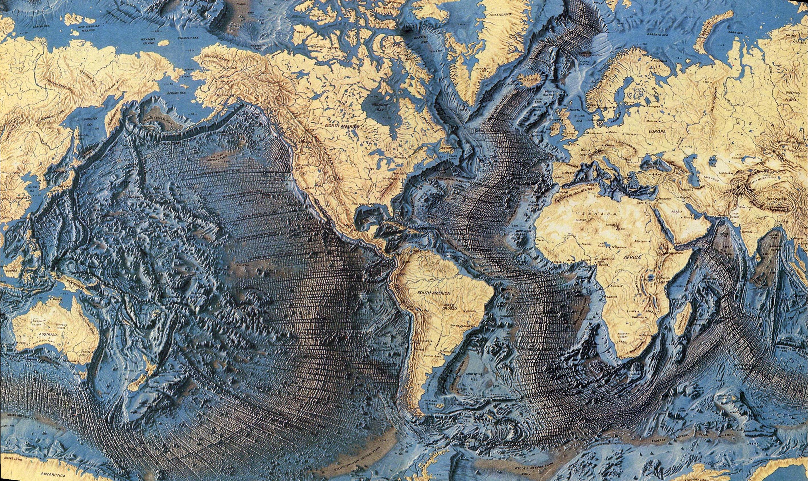 An earth that expanded answers a lot of science s for Ocean s floor